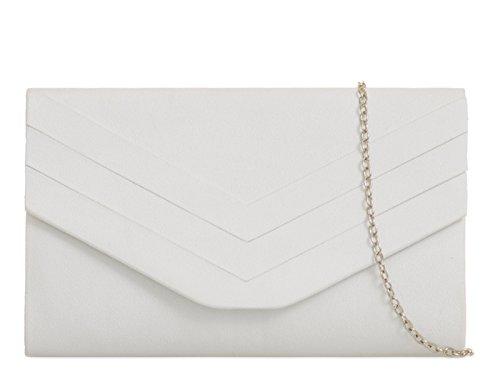 Fi9 Sac à main élégant en daim Style enveloppe...