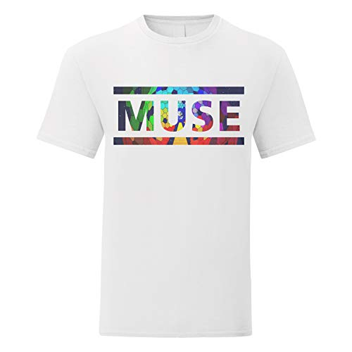 Heren T-shirt Muse Coloured Texture - men's t-shirt rock band 100% cotton LaMAGLIERIA