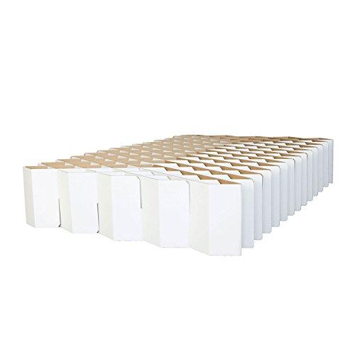 ROOM IN A BOX Bett 2.0 M/Weiß: Klappbett aus Wellpappe 120 140 x 200 cm und Zwischengrößen. Auch als Gästebett. Lattenrost Nicht nötig.