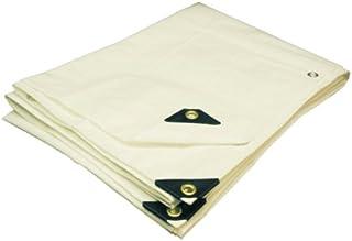 Canopies and Tarps Premium Heavy-Duty Poly White Tarp, 14' x 18' - Heat Welded Seams, Rot-Proof and Waterproof Tarpaulin