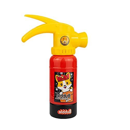 Extintor de pompas de jabón para niños, máquina de pompas de jabón, con luz y música
