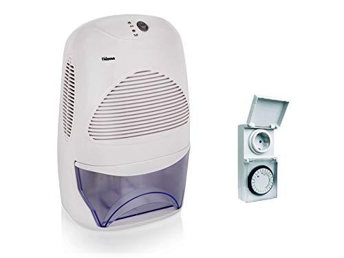 Elektrischer Raumluftentfeuchter gegen Schimmel mit 2L Tank & Zeitschaltuhr - ideal für Bad / Schlafzimmer / Keller
