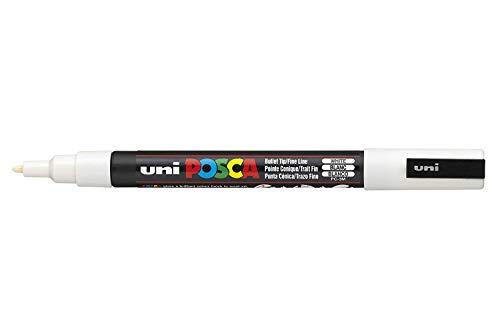 UNI-BALL POSCA MARKER PEN PC-3M - WHITE - SINGLE PEN