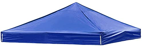 ASEDF Canopy Replacement,1200D Oxford Cloth, PA Coating, Waterproof, Anti-ultraviolet 10x10 Canopy Replacement Top Gazebo Canopy Top Patio Pavilion Cover Sunshade Pplyeste blue