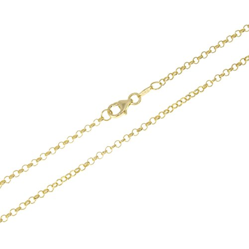 aion Goldkette Massiv Gold 585 Damen Herren Erbskette Gelbgold 14K 40 60 cm 1,3 mm (50)