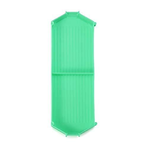 Upgrade Large Capacity Diamond Painting Tray Plastic Drill Plate Cross Stitch Embroidery Accessories Nail Art Beading Plates(green)