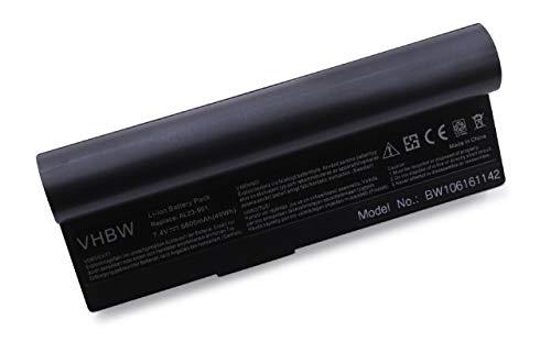 vhbw Akku für Asus Eee PC 901, 901 Go, 904, 904HD, 1000, 1000H, 1000H Go, 1000HA, 1000HD, 1000HE, 1000HG Notebook Laptop - (Li-Ion, 7.4V, 6600mAh)