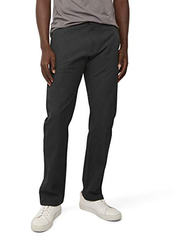 Dockers Men's Straight Fit Ultimate Chino Pants, Blackened Pearl, 36W x 29L