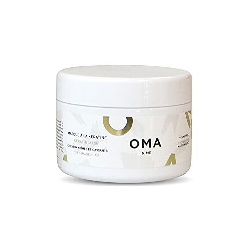 OMA & ME Mascarilla de queratina 250ml - para cabello dañado y quebradizo - Con queratina reparadora - Hecho en FRANCIA