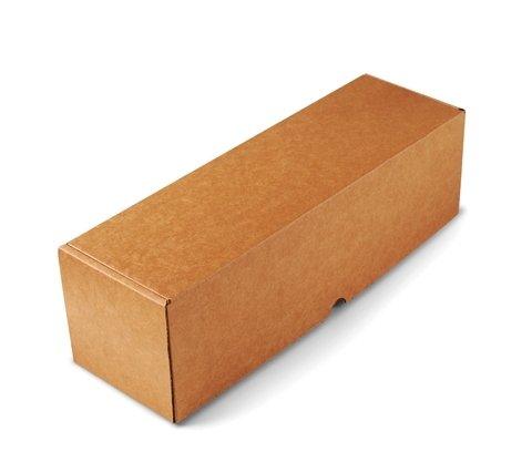 Selfpackaging Caja para envíos Alargada en microcanal Color Kraft Muy Resistente. Envia Botellas. Pack de 50 Unidades. - L