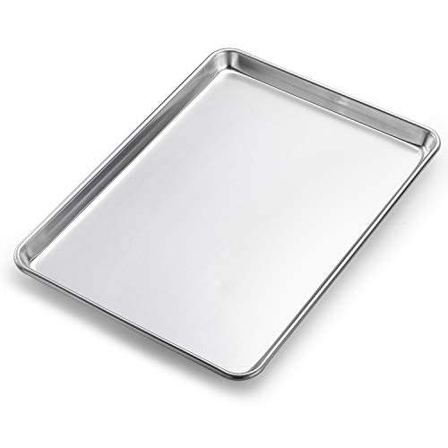 """Spring Chef Aluminum Half Sheet Pan, Baking Cookie Sheet For Oven, Heavy Duty, 12.8"""" x 17.7"""""""