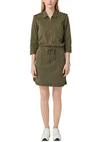 s.Oliver Damen 14.903.82.7336 Kleid, Grün (Khaki 7971), (Herstellergröße: 38)