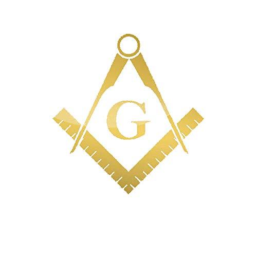 EW Designs Freemasonry Emblem Sticker Die Cut Decal Freemason Masonic Bumper Sticker Vinyl Sticker Car Truck Decal 5'