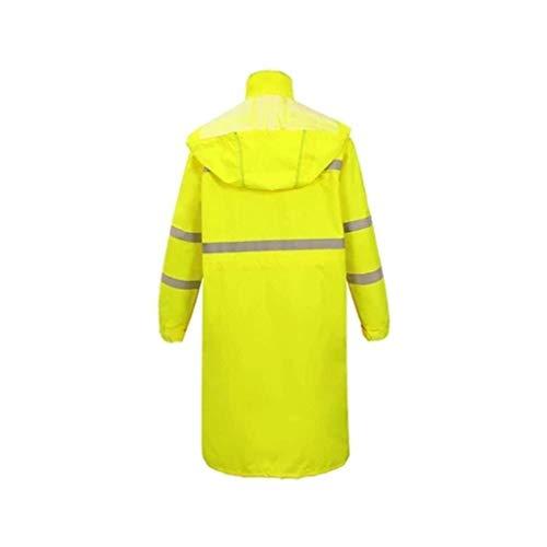 JJZXPJ Waterdichte regen Poncho Lichtgewicht Herbruikbare Outdoor Waterdichte Poncho (geel/zwart/) Heren sneeuw regenjas (Kleur : Geel, Maat : XXXXL)