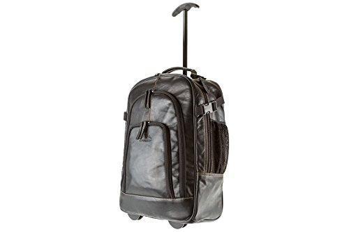 Alpenleer Trolley-rugzak ACHENSEE | Echt buffelleer | Handgemaakte reiskoffer heren dames bruin of zwart
