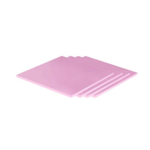 ARCTIC Thermal Pad Basic 100 x 100 x 1.5 mm (Pack of 4) - High Performance Gap Filler, Safe Handling, Non-Stick and can be Easily Removed and repositioned, Easy to Apply, Material: APT2012 - Pink -  ACTPD00022A