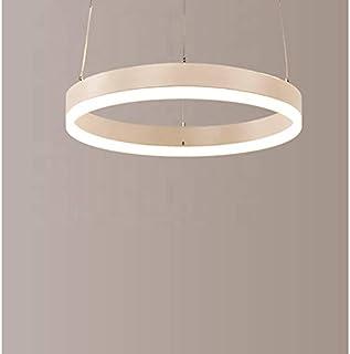 Patabit - Lámpara de techo LED moderna para dormitorio, salón, cocina, salón | Plafón de techo LED con tres tipos de color de luz (plata cepillada, 1 aro 800 mm)