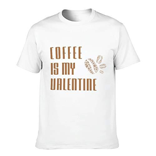 Ballbollbll Coffee is My Valentine - Camiseta de manga corta para hombre, cuello redondo, 100% algodón, tallas grandes