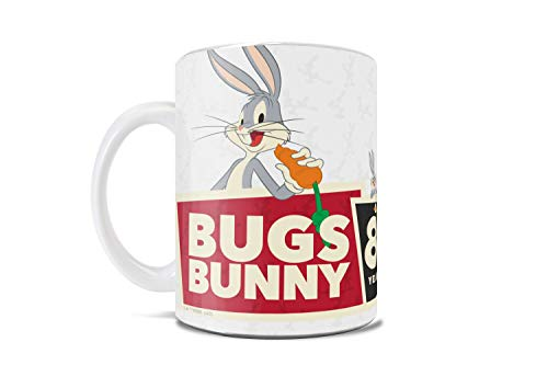 Looney Tunes – Bugs Bunny – 80th Anniversary Official Merchandise - 11 oz Ceramic Coffee or Tea Mug – Perfect for gifting or collecting – by Trend Setters Ltd.