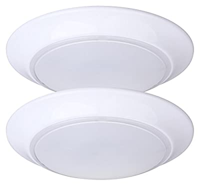 LIT-PaTH LED Flush Mount Ceiling Lighting Fixture, Dimmable, 7.5 Inch 11.5W 800 Lumen, ETL and ES Qualified