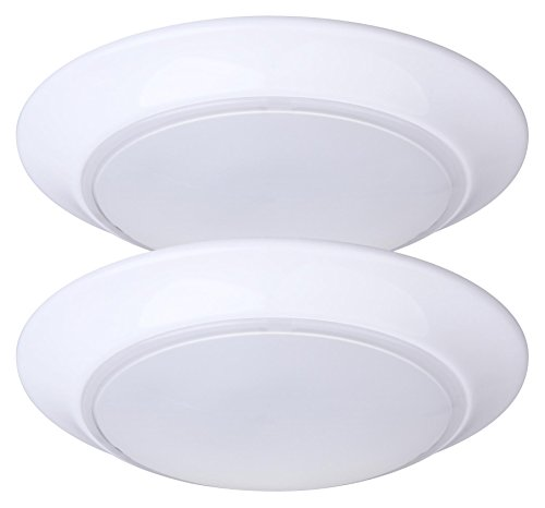 LIT-PaTH LED Flush Mount Ceiling Lighting Fixture, Dimmable, 7.5 Inch 11.5W 800 Lumen, ETL and...