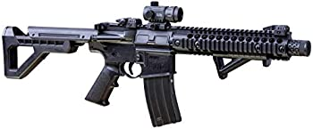 DPMS Full Auto SBR CO2-Powered BB Air Rifle with Dual Action Capability And Red Dot Sight Black DSBRX