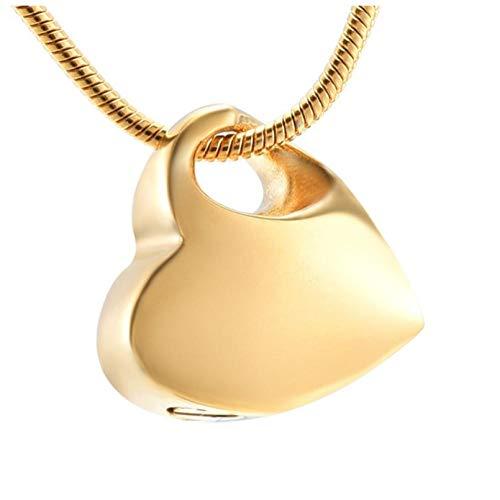 Wxcvz Ceniza Collar Colgante Sostenga Mi Corazón Colgante Urna De Cremación Collar De Joyería Embudo Relleno Ceniza Recuerdo Conmemorativo para Mascotas Cenizas De Cremación Humana