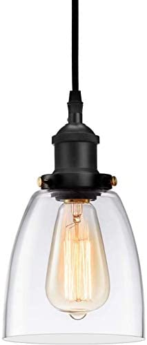 Clear glass pendant lights for kitchen _image0