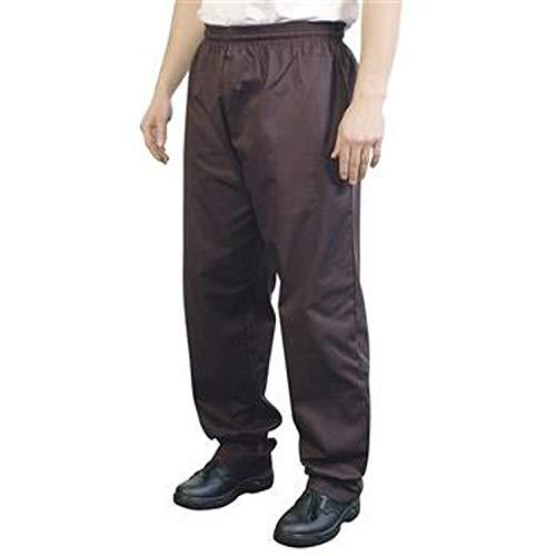 BonChef - Pantaloni da Chef Modello Largo - Adulti/Unisex (XXL) (Nero)