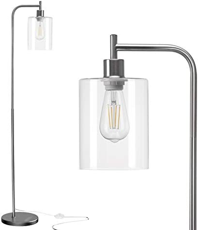 Addlon LED Floor Lamp with Hanging Glass Lamp Shade and LED Bulb for Bedroom and Living Room product image