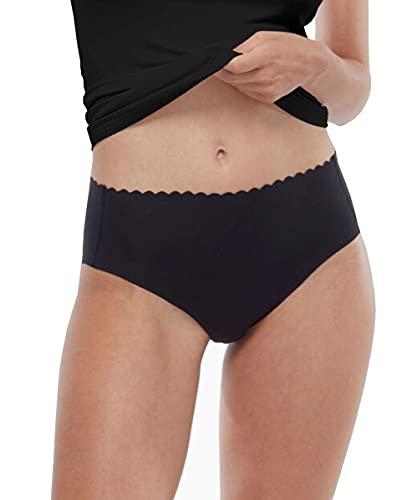 LOVABLE Invisible Comfort Cotton Intimo, Nero, S/M (Pacco da 3) Donna