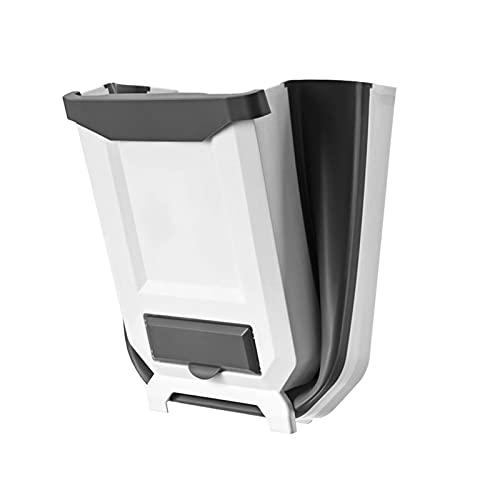 Cubo de Basura Reciclaje como Papelera Plegable para Cocina con dispensador de Bolsas de Basura - Cubo Basura orgánica para...