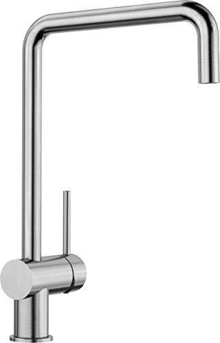 BLANCO 517179 517 179 FINESS, Küchenarmatur-Einhebelmischer, Edelstahl gebürstet, Hochdruck, 1 Stück
