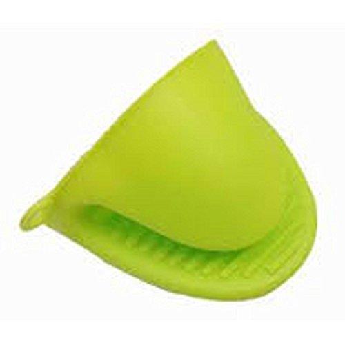 Wuzmei Coque en silicone support de pot four Mini Mitt 1 paire (2PC), cuisson Pincez Grips – Résistant à la chaleur – (Vert)