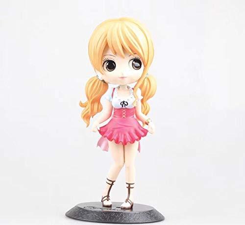 MNZBZ QPosket Cute Big Eyes Anime One Piece Nami & Koala Lovely Dolls Figura Modelo Juguetes 14cm Regalo para niña-si
