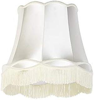QAZQA Retro/Vintage Seda Pantalla seda crema 45cm - GRANNY, Redonda/Cónica Pantalla lámpara colgante,Pantalla lámpara de pie