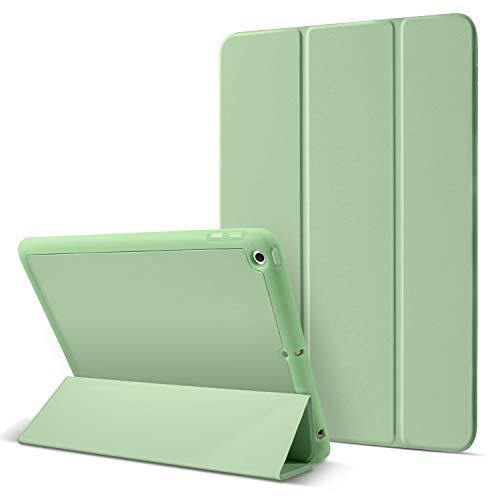 BENTOBEN iPad 8th Generation Case, iPad 7th Gen Case, iPad 10.2 2020/2019 Case Slim Soft TPU Bumper Stand Shockproof Protective Pencil Holder Auto Sleep/Wake Tablet Cover for Apple iPad 10.2inch,Green