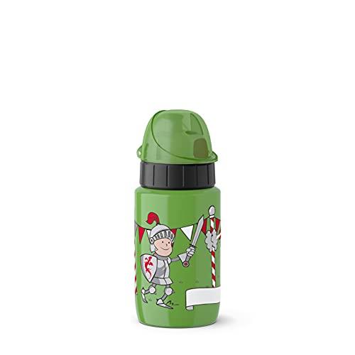 Emsa 518360 Trinkflasche Drink2Go Light Steel | 0,4 L | Edelstahl | Auto-Close Verschluss | 100% auslaufsicher & spülmaschinenfest | Robust & federleicht | Dragon