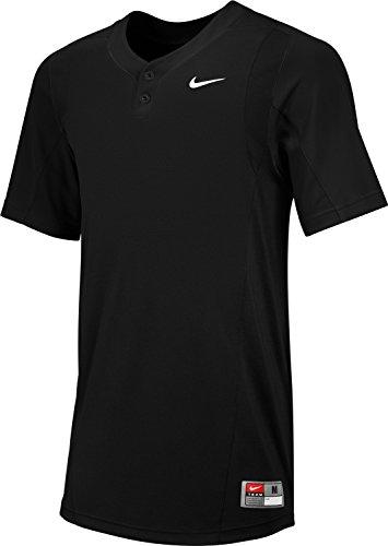 Nike Men's BP II Game Baseball Jersey (Small, Black/White)