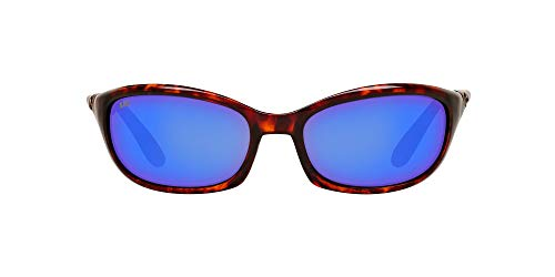 Costa Del Mar Men's Harpoon Oval Sunglasses, Tortoise/Grey Blue Mirrored Polarized-580G, 62 mm