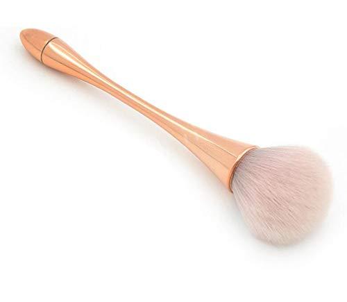 Pinceau à poudre minérale, Kemxing 1pcs Brosse de base douce et moelleuse pour femmes Brosse à poudre professionnelle Brosse à contours Brosse à joues