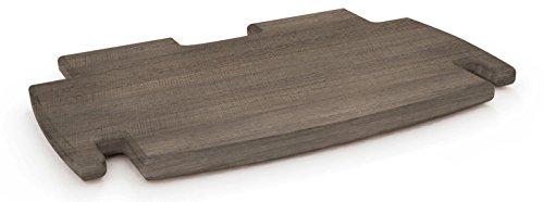 Legaré Furniture Spare Desk Shelf, No Tools Assembly, Grey Driftwood, 12' x 11'