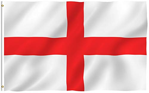 Anley Fly Breeze 3x5 Foot England Flag - Vivid Color and Fade Proof - Canvas Header and Double Stitched - English National Flags Polyester with Brass Grommets 3 X 5 Ft