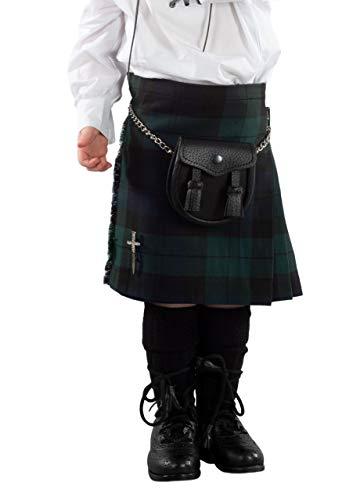 Boys Black Watch Tartan Scottish Highland Kilt 1-2 Years