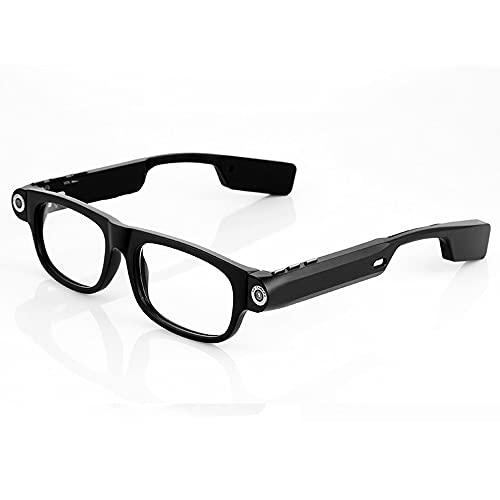 Gafas de vídeo inteligentes multifuncionales para deportes al aire libre estéreo Bluetooth auriculares con tecnología negra compatible con escuchar música y llamadas 720p Gafas de vídeo