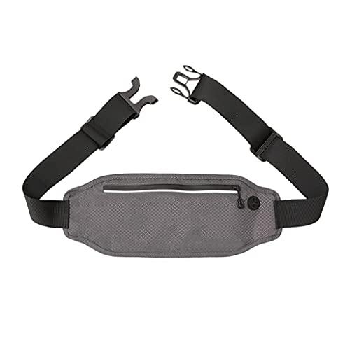 Bolsa de Cintura Simple, Ultra Delgada e Invisible, Hombres y Mujeres, Bolsa de cinturón antirrobo antirrobo. Holder (Color : Gray1)