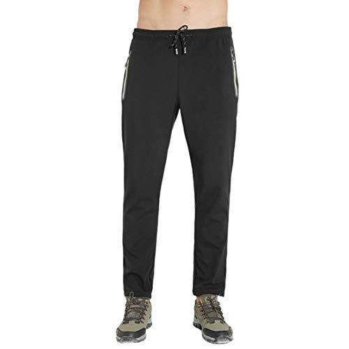 Gaga City wandelbroek voor dames en heren, gevoerd, waterdicht, winddicht, outdoorbroek, softshellbroek, elastische tailleband