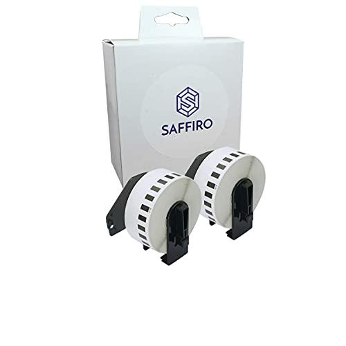 Saffiro Etiquetas compatibles con Brother DK-22210 – 29 mm x 30,48 m, 2 rollos de etiquetas continuas, compatibles con impresoras Brother (2)