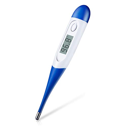 Baby and Adult Digital Medical Thermometer, Accurate and Fast Readings,Oral and Rectal Thermometer with Fever Indicator Suitable for Children Babies - 2019 High Quality