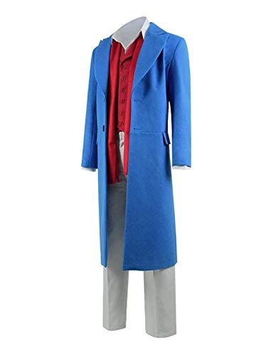 Adult Detective Inspector Rabbitt Cosplay Costumes Halloween Full Set (XXL, Blue)